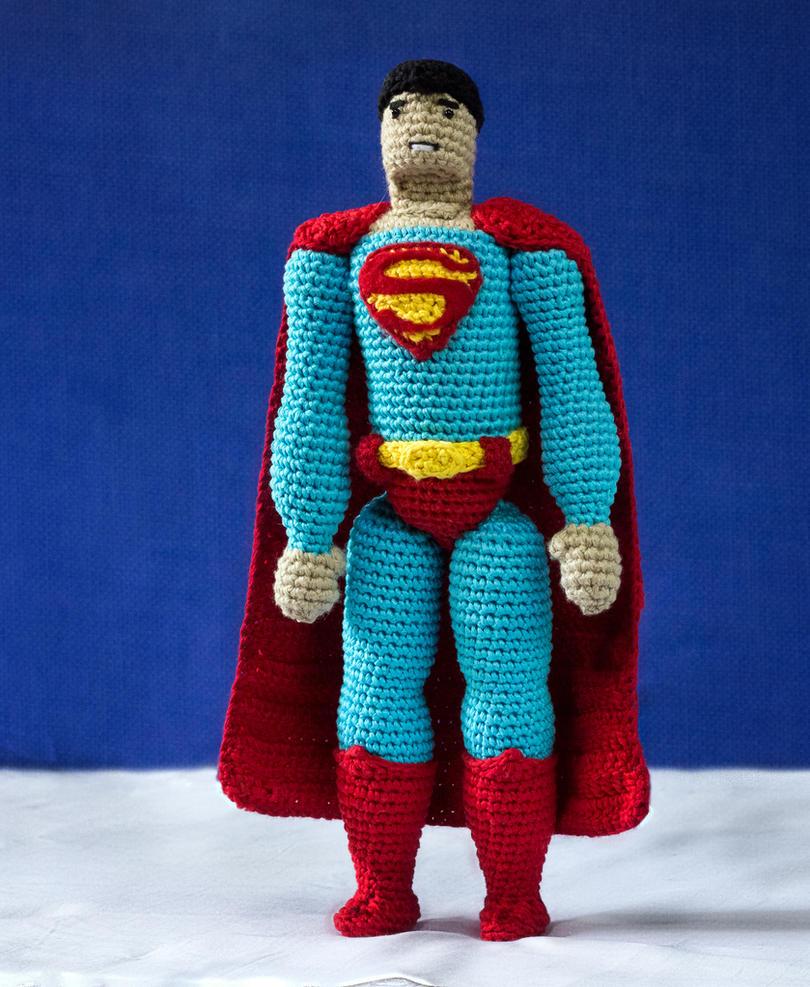 Superman Crochet Amigurumi Doll by tinyAlchemy