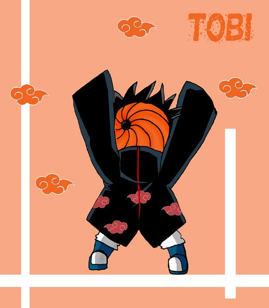Chibi Tobi by darkgal666 on DeviantArt Akatsuki Chibi Tobi