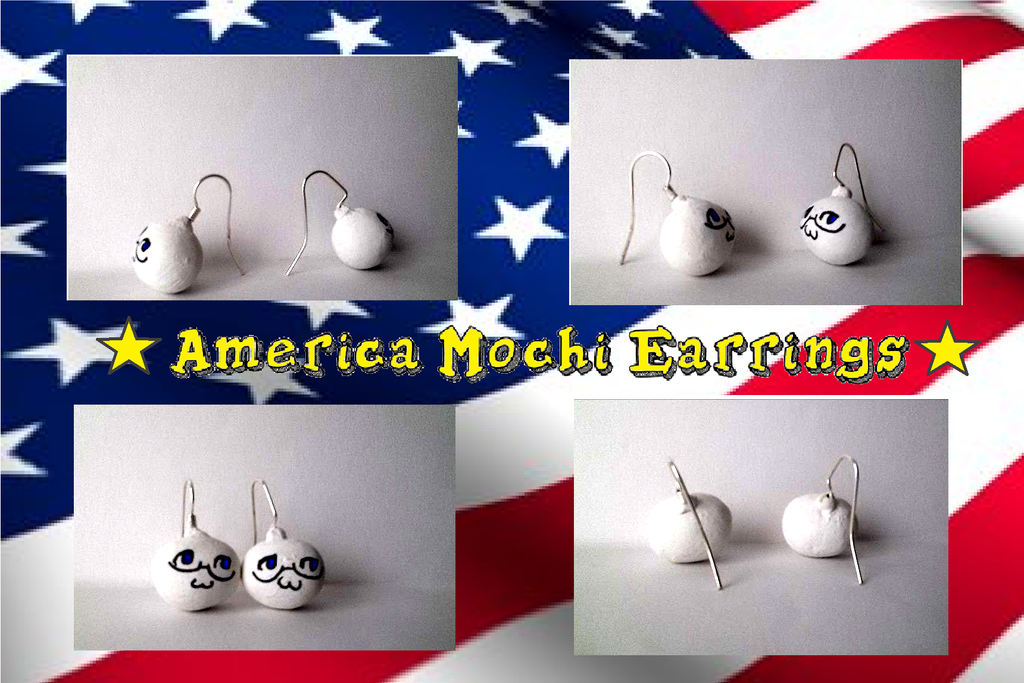 America Mochi Earrings by xXShadow-BlizzardXx