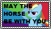 May the Horse be with you stamp by the-ocean-sings