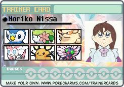Pokemon Trainer Card: Moriko Nissa by the-ocean-sings