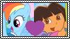 RainbowDora Stamp by the-ocean-sings