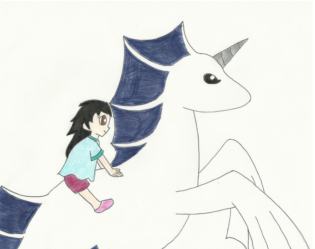 Aika Rides Hayate by the-ocean-sings