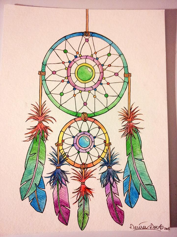 Dream Catcher in Watercolor (2) by Desiree-Doe on DeviantArt
