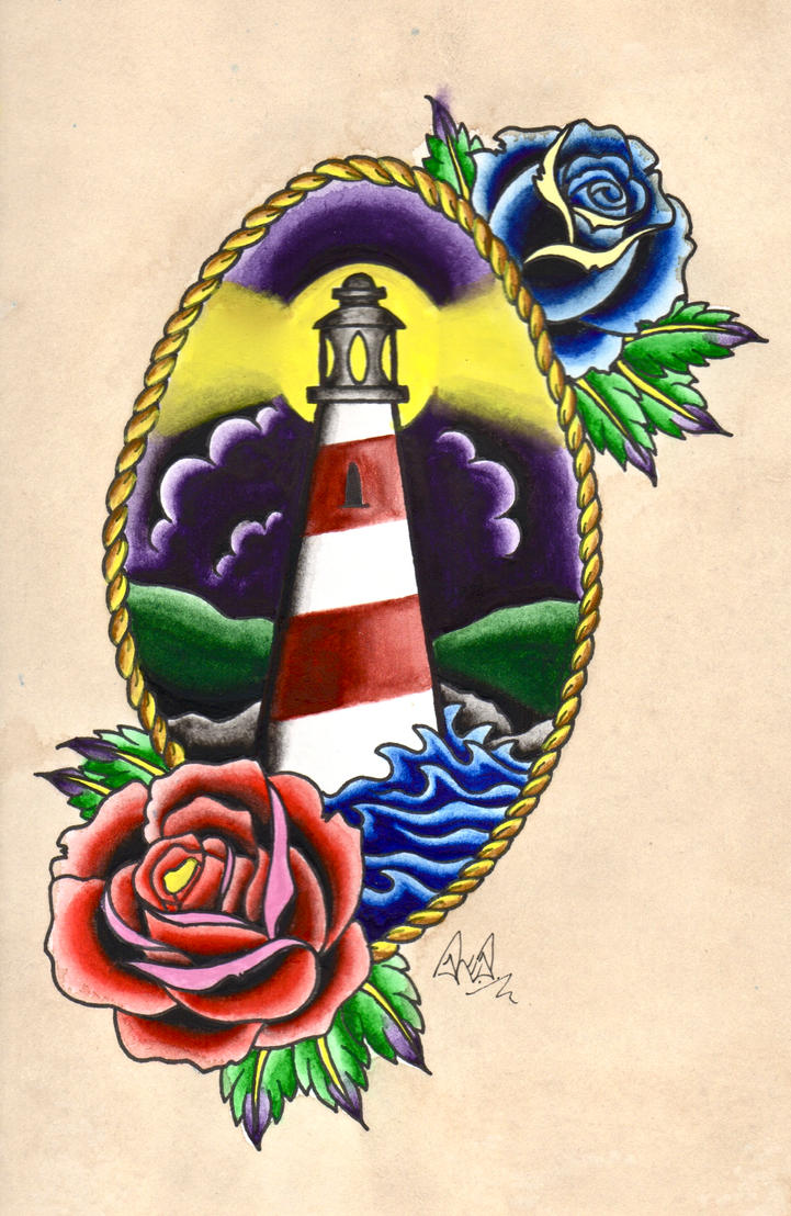 traditional watercolour lighthouse tattoo by rp4rk3r on deviantart. Black Bedroom Furniture Sets. Home Design Ideas