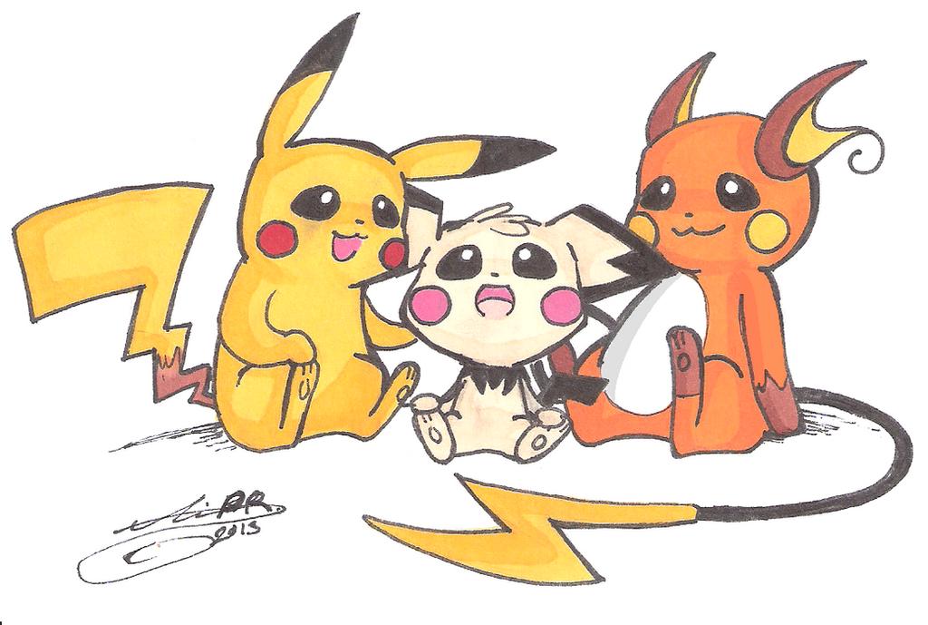 Pichu, Pikachu, Raichu by FireSoul1000 on DeviantArtPichu Pikachu Raichu