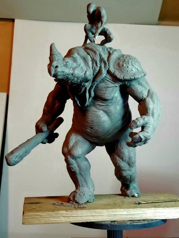 Rhino Warrior by kitmangore