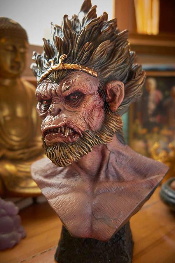 Monkey King Bust by kitmangore