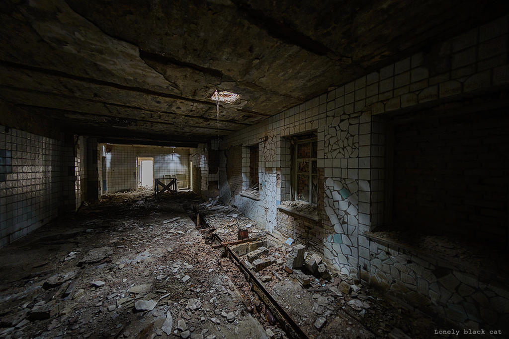 abandoned place by Lonely-black-cat