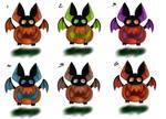 Pumpkin Bat Adopts {Closed} by Black-Ice-Gryphon