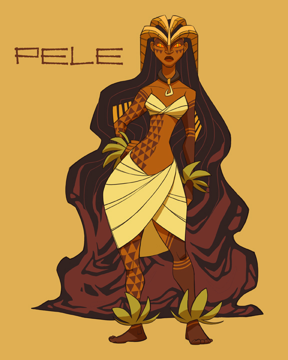 Pele, Fire Goddess of Kilauea by shoomlah on DeviantArt
