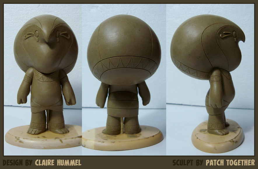 Tiny Horus toy WIP by shoomlah