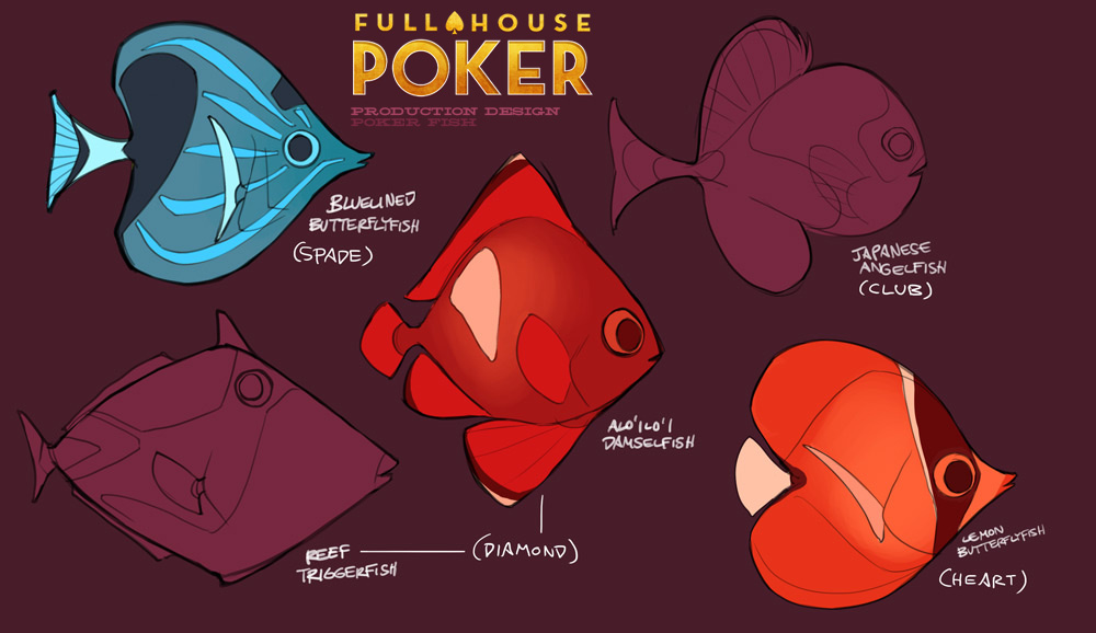 Full House Poker card fish by shoomlah