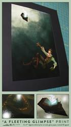 'A fleeting glimpse' print by shoomlah