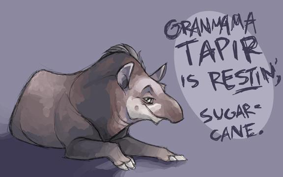 Granmama Tapir by shoomlah