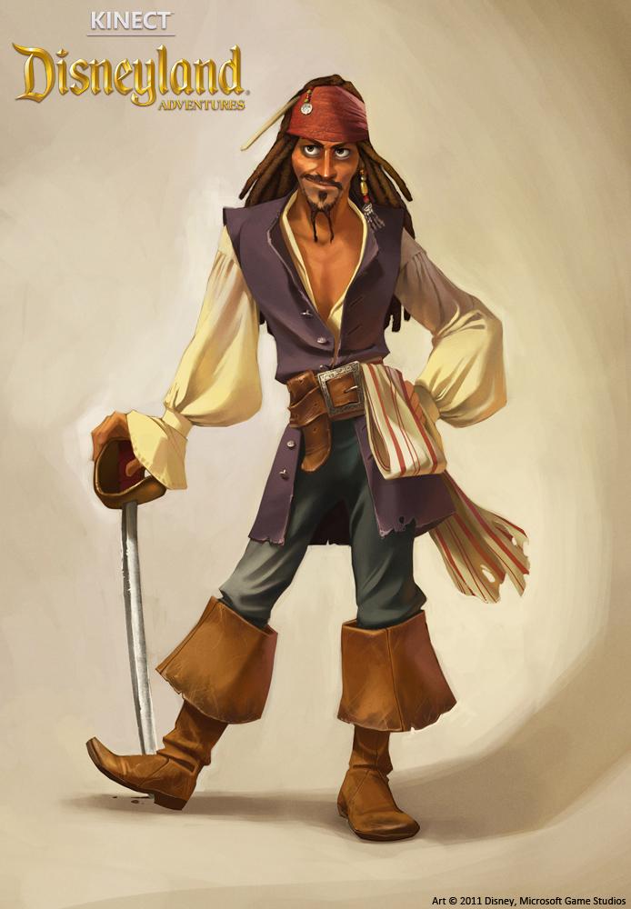 Kinect Disneyland Adventures - Jack Sparrow by shoomlah