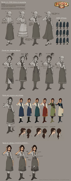 Bioshock Infinite - Young Liz costume development
