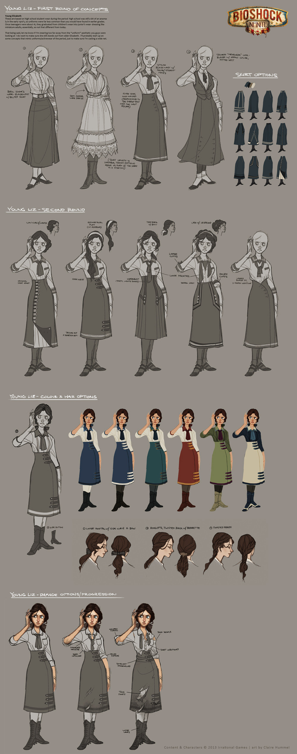 Bioshock Infinite - Young Liz costume development by shoomlah