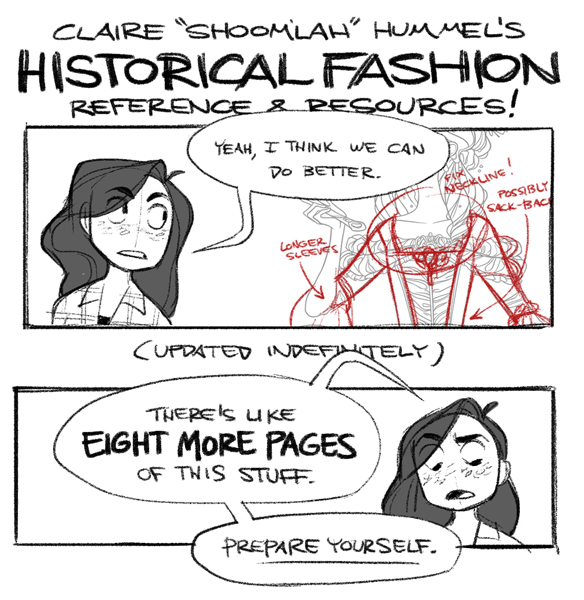 Claire's Historical Fashion MASTER POST! by shoomlah