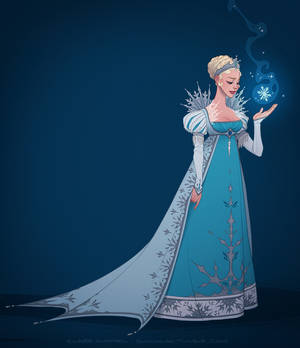 It looks like I'm the queen (ice gown)