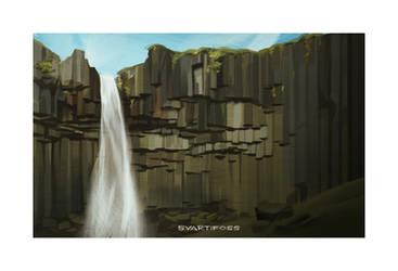 Iceland 2014 - Svartifoss by shoomlah