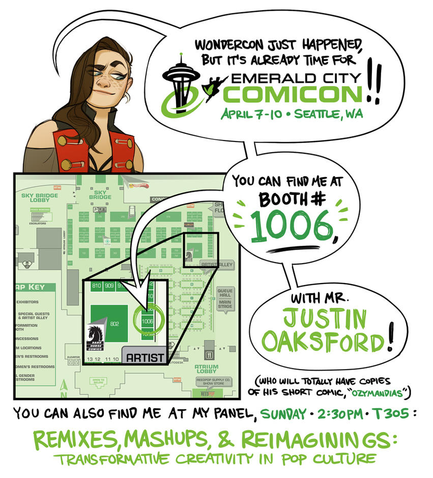 Emerald City Comicon BOOTH #1006 by shoomlah