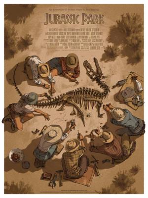 Jurassic Park for MONDO by shoomlah