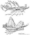 Shenkuu Airship Concepts