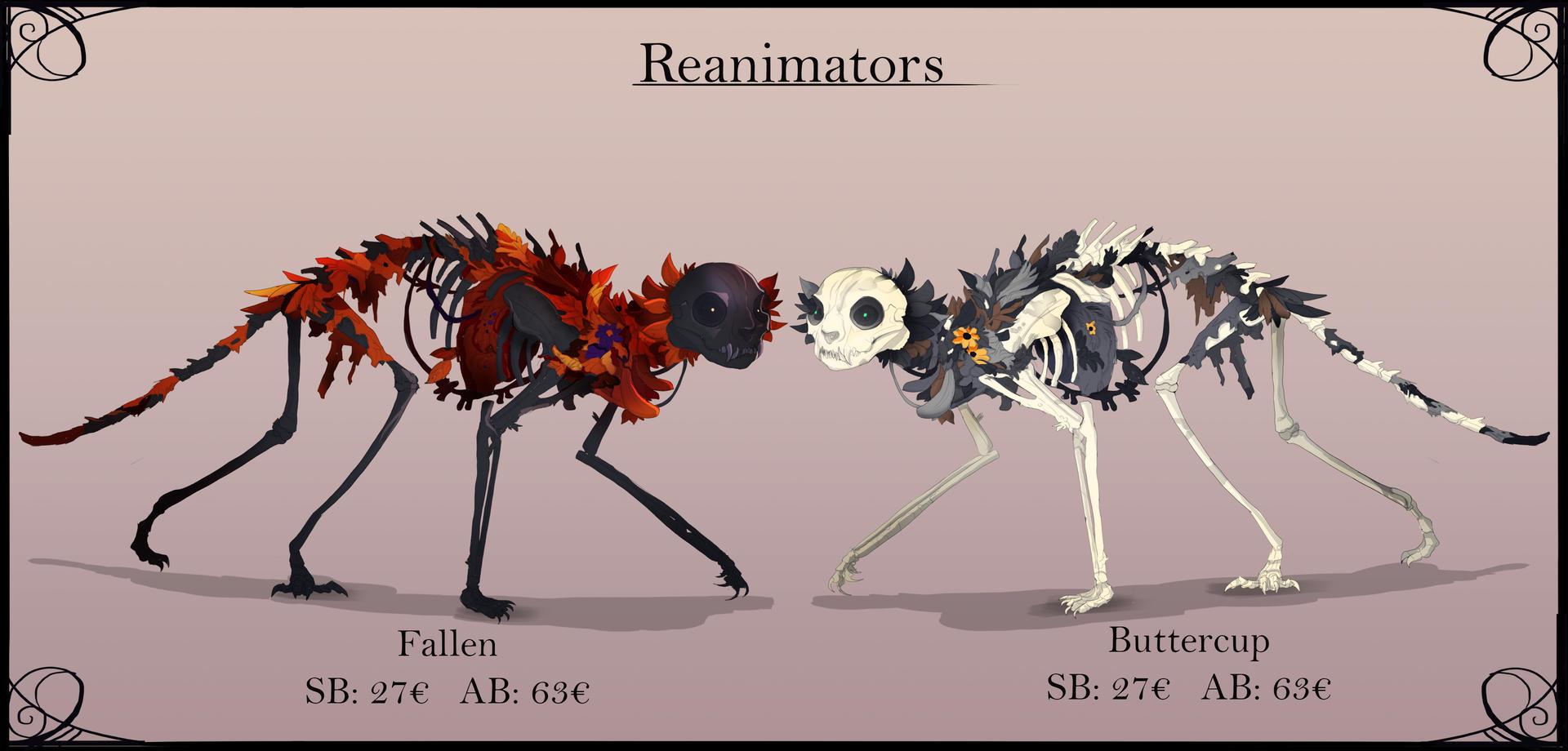 Reanimator adoptable auction closed