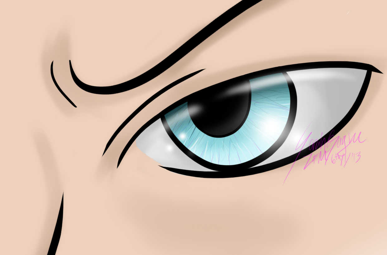 Eye practice: Soft Shading by ZeFlyingMuppet