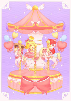 Animal Crossing Pastel Carousel