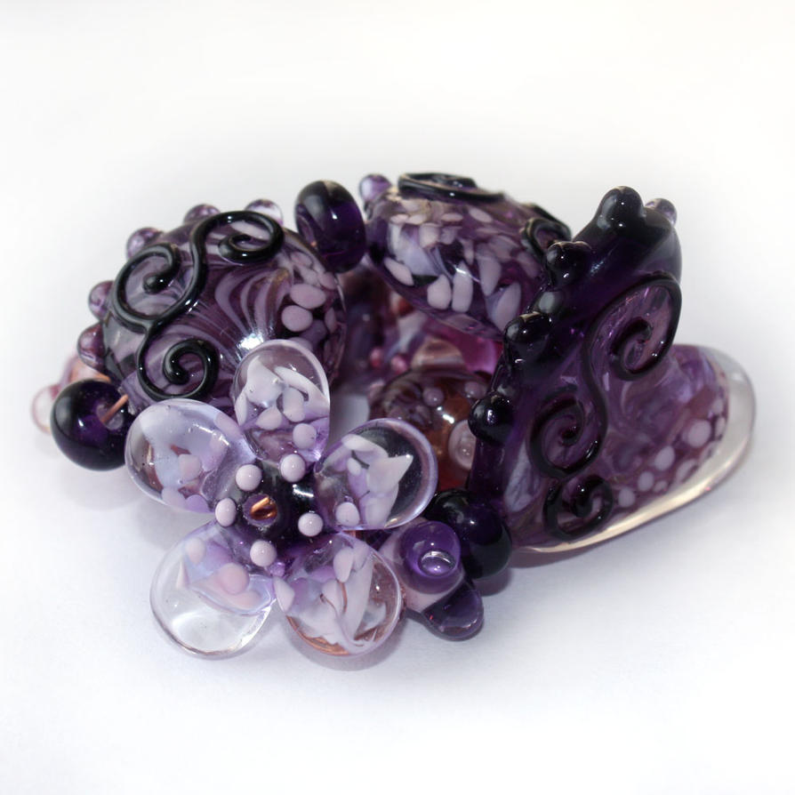 Gypsy Purple in My Heart by mybelovedbeads