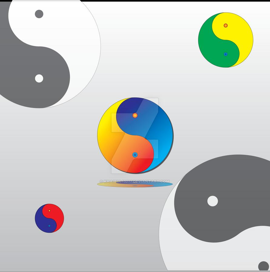 Yin Yang Background by khairul13277