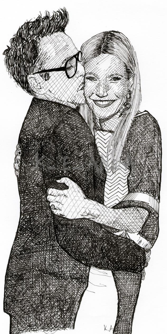 Robert Downey Jr and Gwyneth Paltrow by katr14