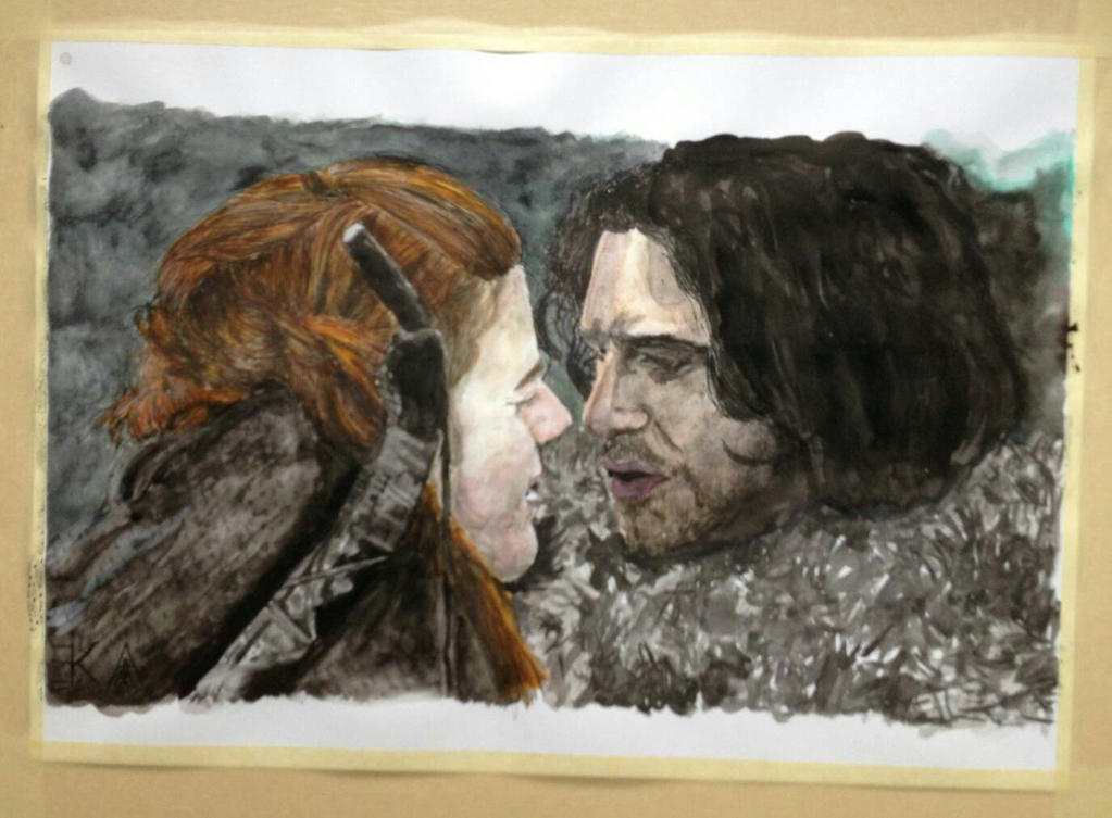 Ygritte and John Snow by katr14
