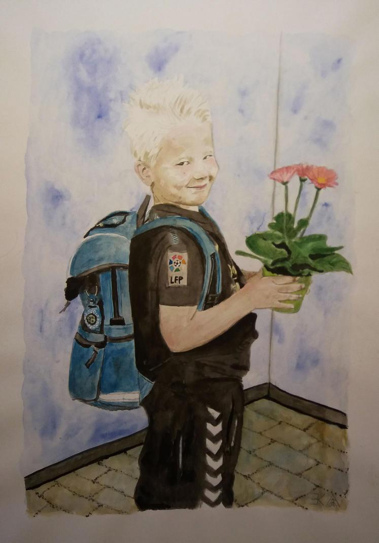 Portrait of a boy by katr14