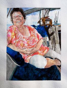 Auntie at sea - speedpaint link in description
