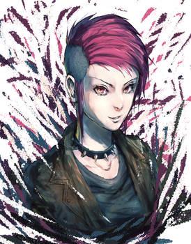 Pink Hair Punk Lady