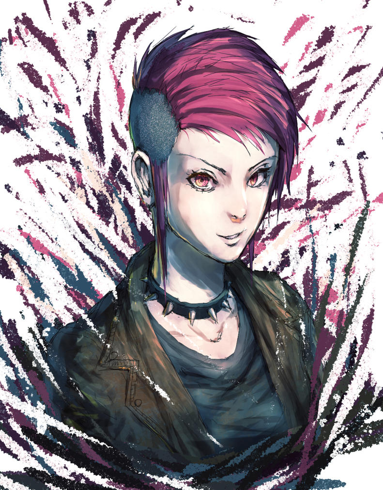 Pink Hair Punk Lady By Mar5hma110w On Deviantart