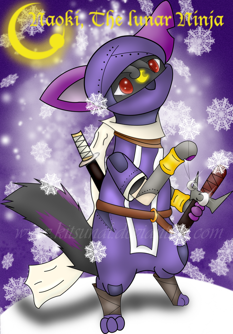 .:AT:. Naoki The lunar Ninja by Kitsunal