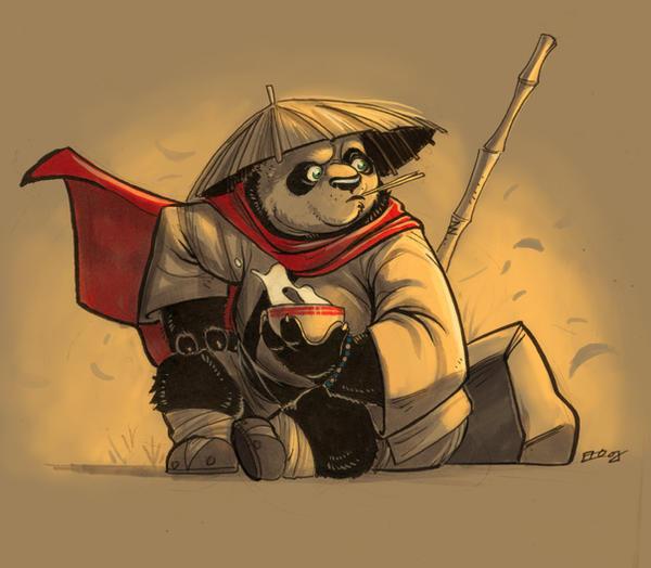 Po-Kung Fu Panda by E-Mann