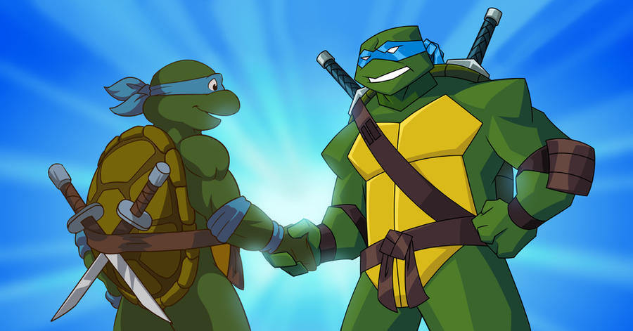 Turtles Forever Leo Meets Leo by E-Mann