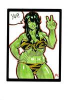 Heroine  She Hulk Sketch by E-Mann