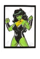 Heroine  She Hulk Sketch 3 by E-Mann