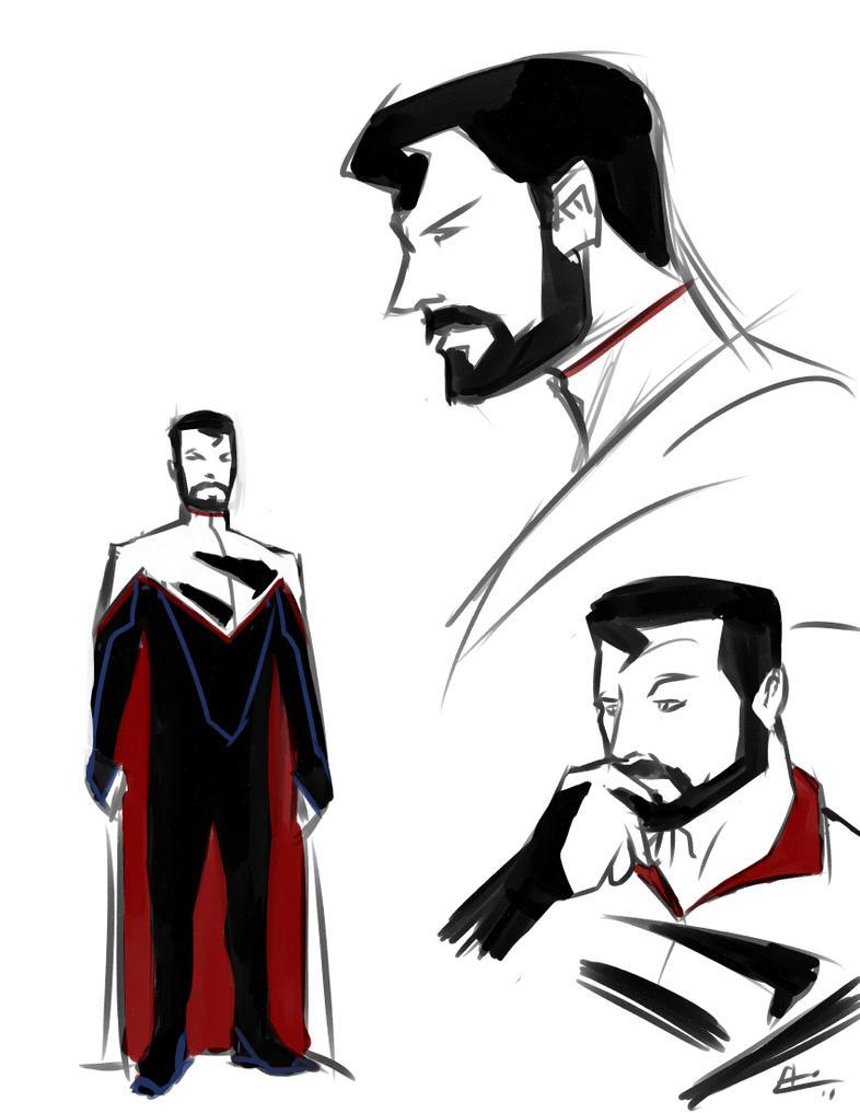 Bearded Superman Here s the costume originally