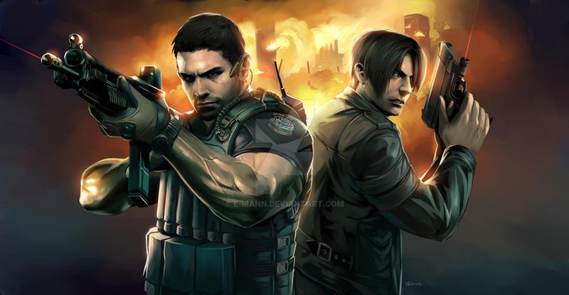 Resident Evil 6 Painting by E-Mann