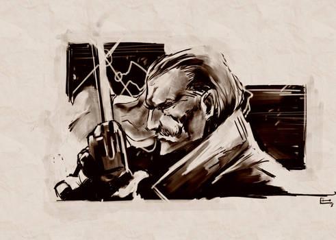 Revolver Ocelot: MGS Art Studio