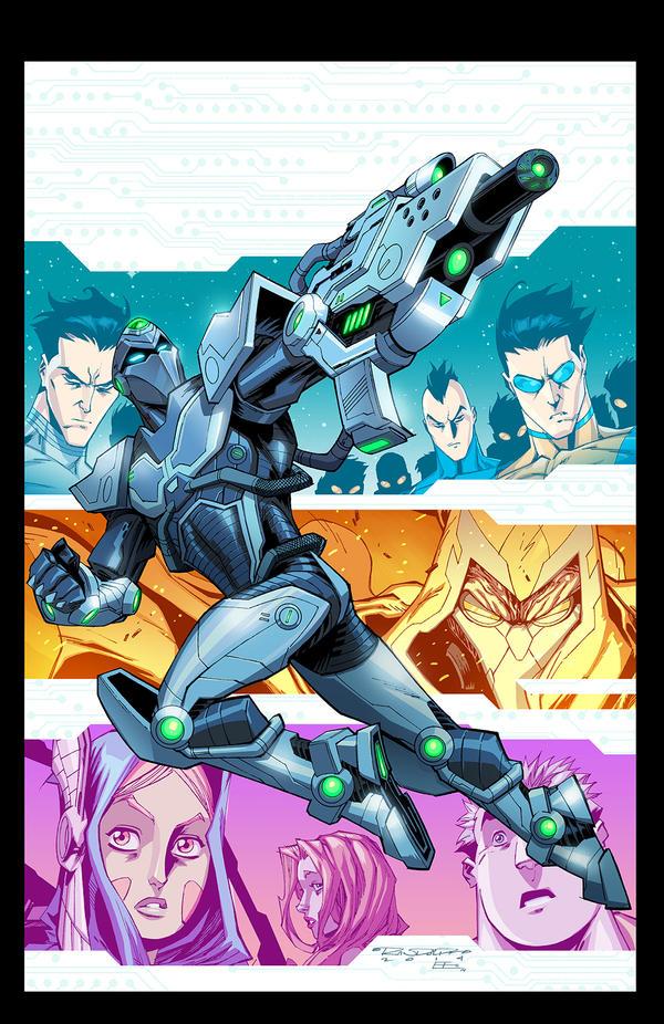 Cover: Tech Jacket  TPB Vol2 by E-Mann