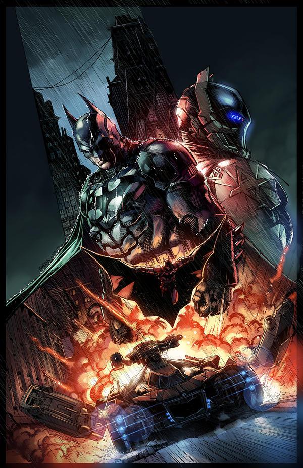 Batman: Arkham Knight Limited Edition Comic Cover by E-Mann