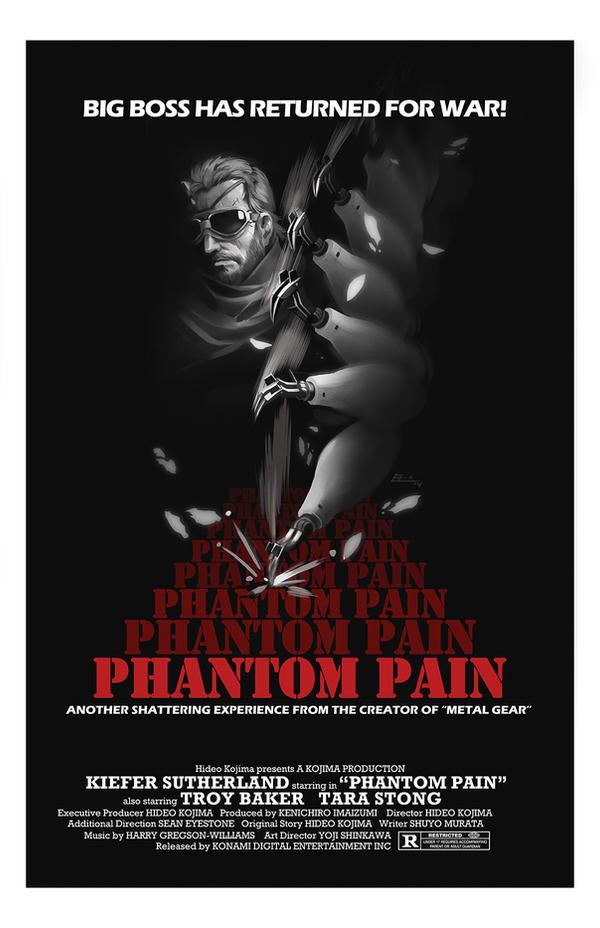 Metal Gear Solid V: Phantom Pain  movie poster by E-Mann